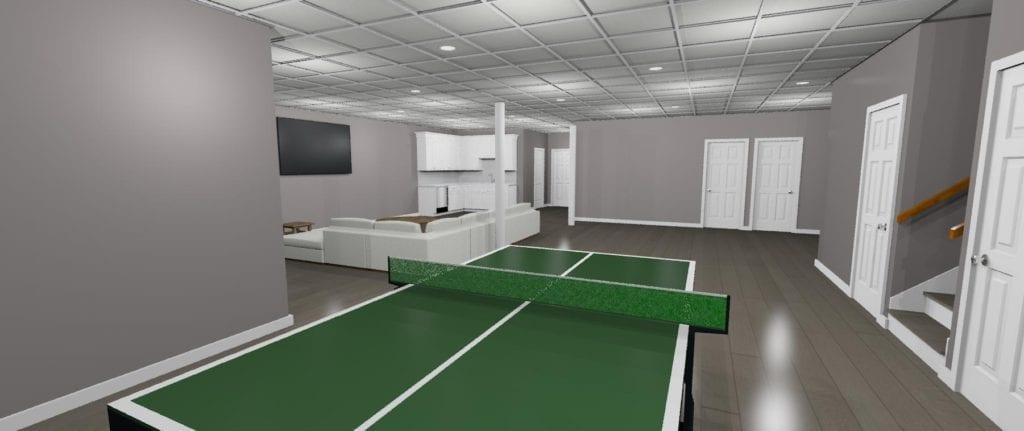 RI 3D basement remodel