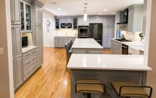 Defining kitchen in open floor plans