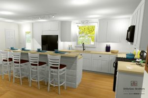Kitchen remodel rendering