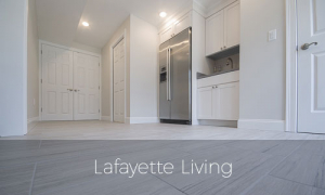 Lafayette living, rhode island, finished basement