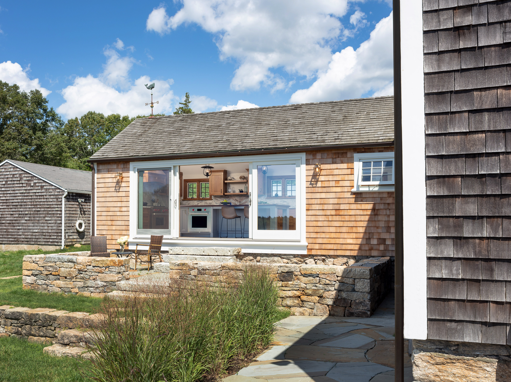 The Pond House Exterior Remodel