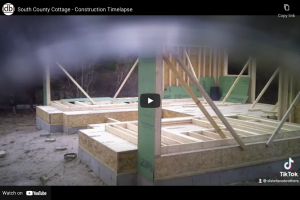 south county cottage - construction time-lapse